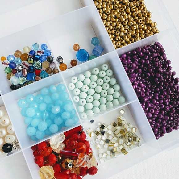 Jewelry Plastic Storage Container Filled With Beads Poshmark